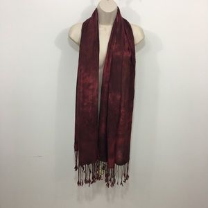 New with tags Lucky Brand Embroidered fringe scarf